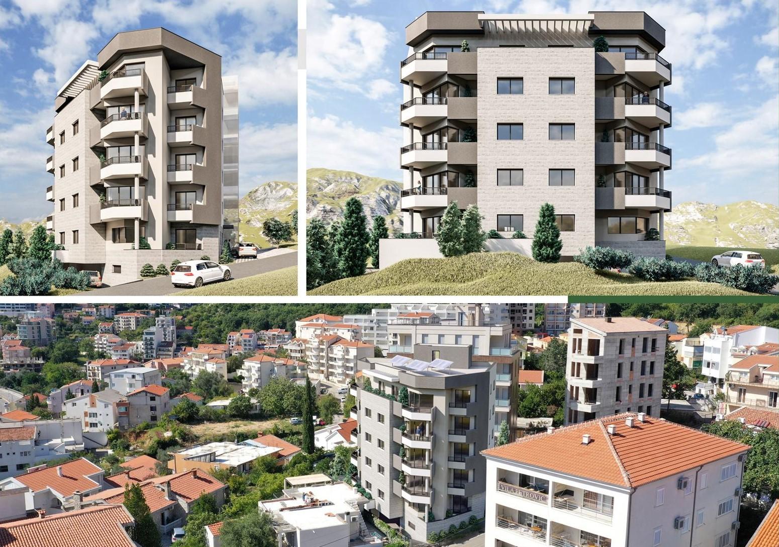 amforaproperty.com/Stanovi u Bečićima na odličnoj lokaciji blizu mora. Novogradnja, pogled.